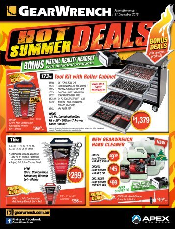 GearWrench Hot Summer Deals
