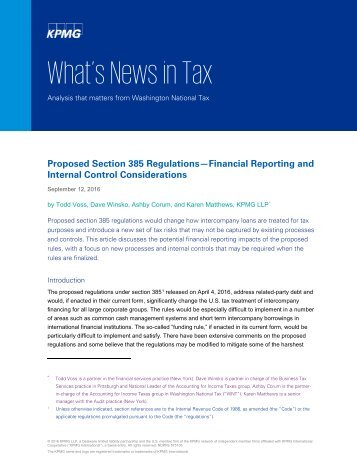 What's News in Tax