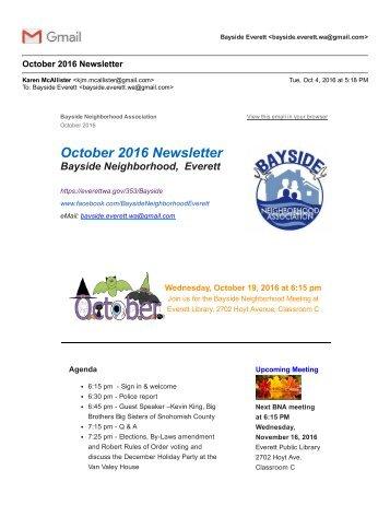 Gmail - October 2016 Newsletter