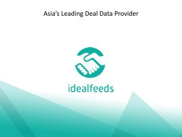iDealFeeds launches to provide media owners with data feeds of the top coupons and discounts across Asia