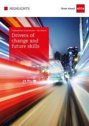 Drivers of change and future skills