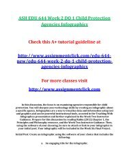 ASH EDU 644 Week 2 DQ 1 Child Protection Agencies Infographics