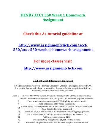 DeVry ACCT 344 Homework Week 1, 2, 3, 5, 6 Latest
