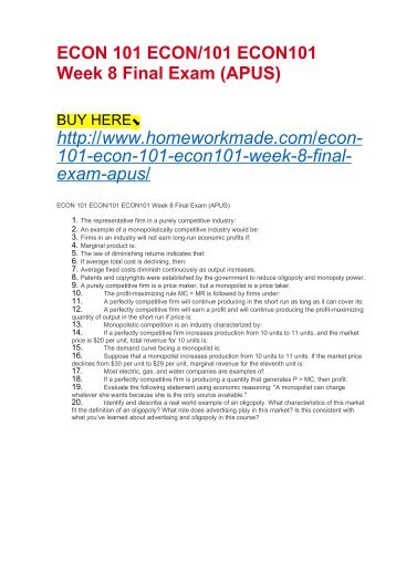 econ 545 week 6 quiz essay example Original filename: uop econ 545 week 6 quizpdf author: lenovo this pdf 15 document has been generated by microsoft® office word 2007, and has been sent on pdf-archivecom on 03/03/2017 at 09:37, from ip address 43224xx the current document download page has been viewed 70 times.