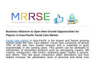 Business Alliances to Open New Growth Opportunities for Players in Asia-Pacific Facial Care Market