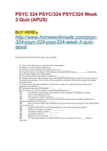 SCIN138 Week 3 Quiz (APUS)