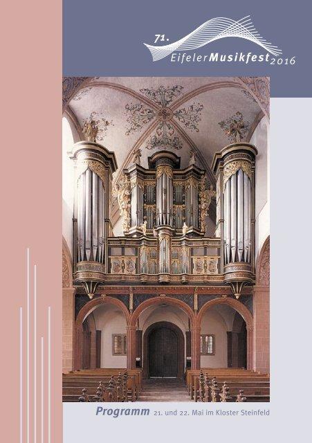 Programm Eifeler Musikfest 2016