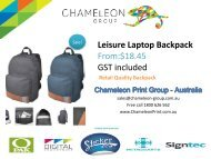 Leisure Laptop Backpack - Chameleon Print Group - Australia