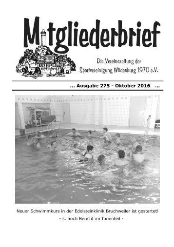 Ausgabe 275 - Oktober 2016