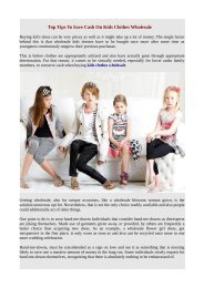 Top Tips To Save Cash On Kids Clothes Wholesale