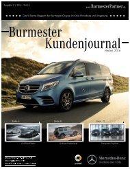 Burmester Kundenmagazin 2016 Ausgabe 2