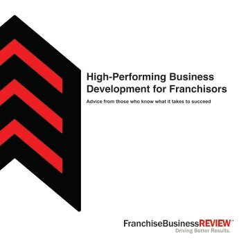 High-Performing Business Development for Franchisors