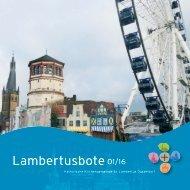 Lambertusbote 01/16 der Pfarre St. Lambertus, Düsseldorf