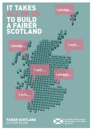 IT TAKES ALL OF US TO BUILD A FAIRER SCOTLAND