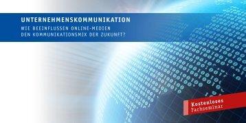 seminar UnternehmenskommUnikation - Komm-ins-web