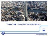 Private Hire - Compliance & Enforcement