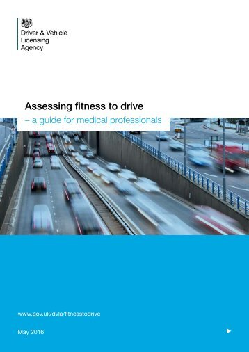 Assessing fitness to drive