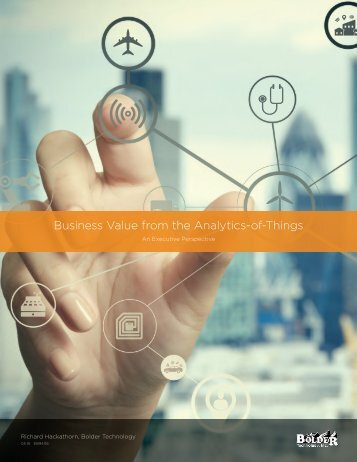 Business Value from the Analytics-of-Things