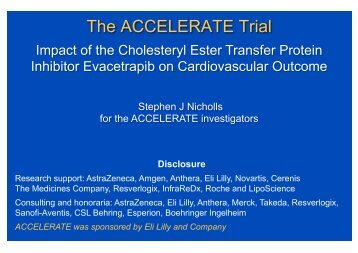 The ACCELERATE Trial