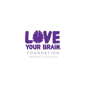LoveYourBrain Annual Report 2015/2016