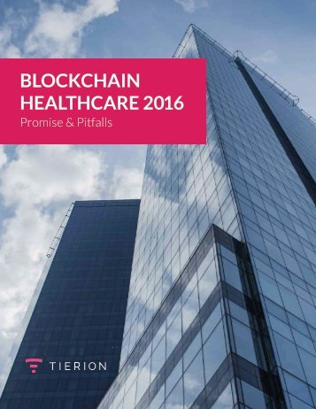 BLOCKCHAIN HEALTHCARE 2016