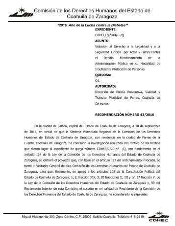 Comisión de los Derechos Humanos del Estado de Coahuila de Zaragoza