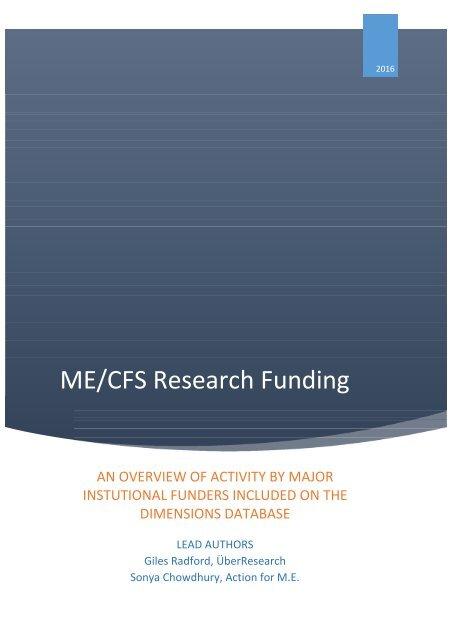 ME/CFS Research Funding