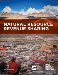 NATURAL RESOURCE REVENUE SHARING