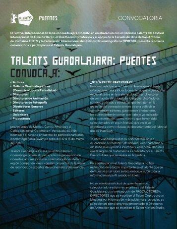 Talents Guadalajara Puentes CONVOCA A