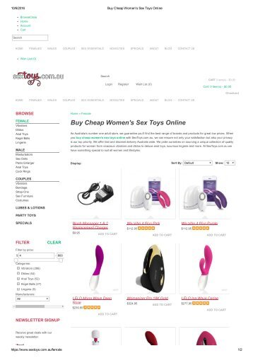 Buy Cheap Women's Sex Toys Online