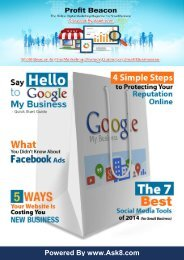 Profit Beacon The Online Digtial Marketing Magazine For Small Business 1st Issue