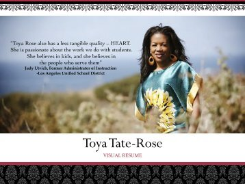 Visual Resume-Toya Tate-Rose