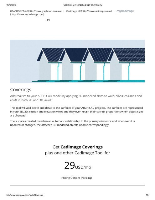 Cadimage Coverings A Plugin For Archicad