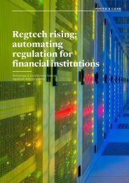 Regtech rising automating regulation for financial institutions