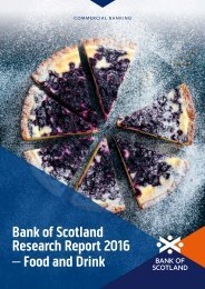 Bank of Scotland Research Report 2016 – Food and Drink