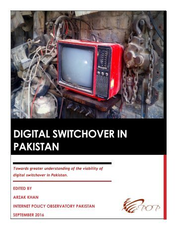 DIGITAL SWITCHOVER IN PAKISTAN