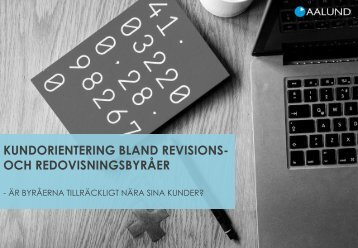 KUNDORIENTERING BLAND REVISIONS- OCH REDOVISNINGSBYRÅER