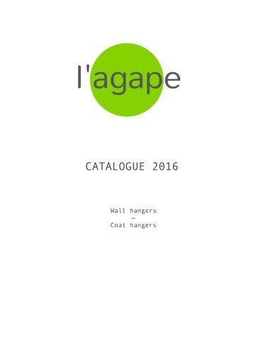 L'agape Coat hangers catalogue