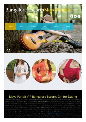 Bangalore Escorts Maya Pandit Independent Bangalore Escorts