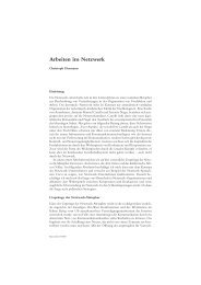 Arbeiten im Netzwerk - Beigewum