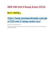 GED 250 Unit 2 Essay Exam (CCU)