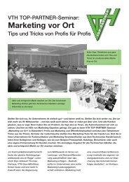 VTH 558G Marketing vor ort - VTH TOP-Partner / VTH TOP-Partner
