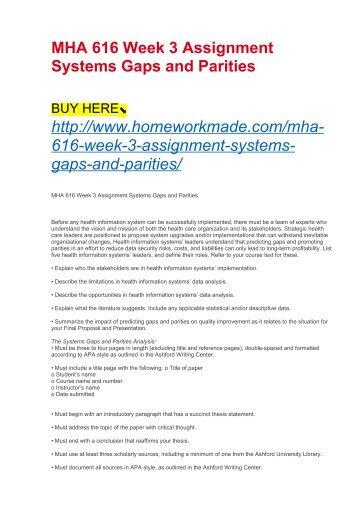 MHA 630 MHA630 Week 2 Assignment Health Promotion