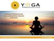 Yoga Teacher Training Melbourne  - Yoga Instructor Courses Melbourne