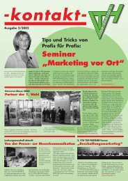 kontakt- Ausgabe: 2/2002 - VTH TOP-Partner / VTH TOP-Partner