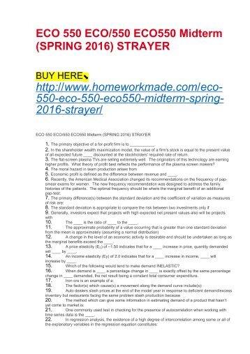 Eco550 midterm
