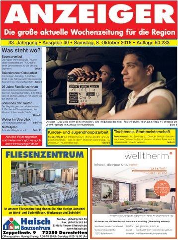 Anzeiger Ausgabe 40/16