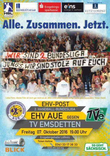 EHV Post EHV Aue gegen TV Emsdetten