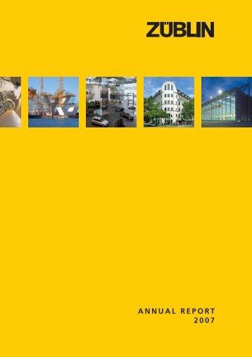 ANNUAL REPORT 2007 - Züblin AS