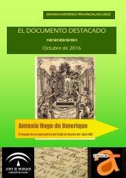 EL DOCUMENTO DESTACADO Antonio Hugo de Omerique